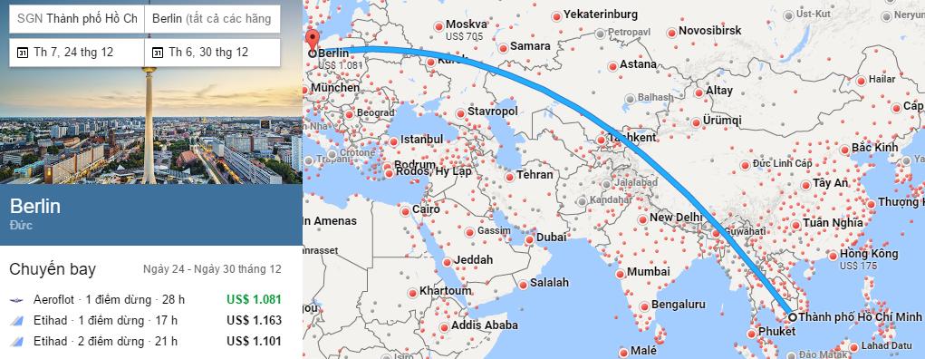 Tham khảo hành trình bay từ TP HCM đến Berlin
