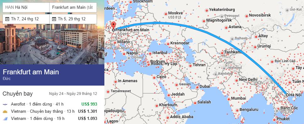 Tham khảo hành trình bay từ Hà Nội đến Frankfurt