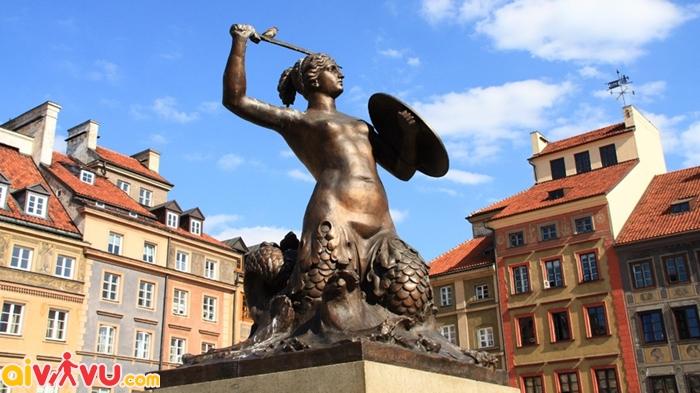 Bức tượng nàng tiên cá Syrena