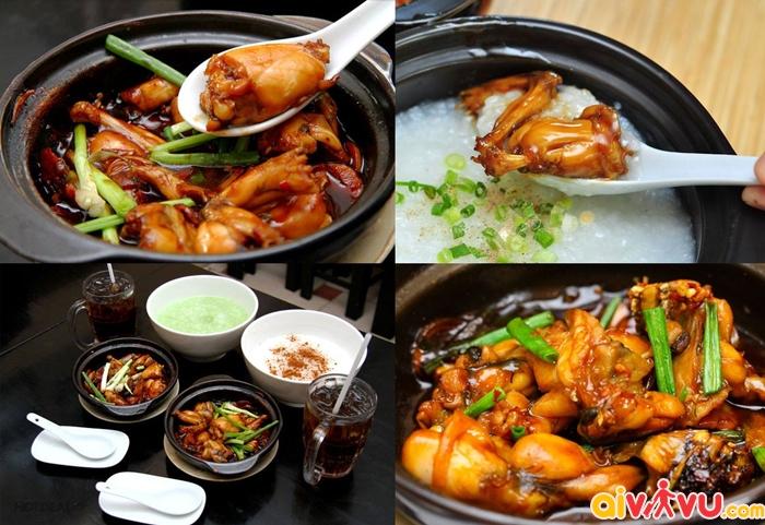 Cháo ếch - đặc sản ẩm thực Singapore