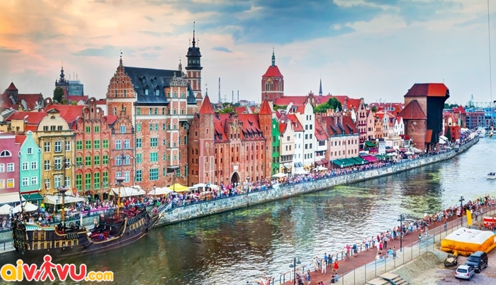 Thị trấn cổ Gdansk