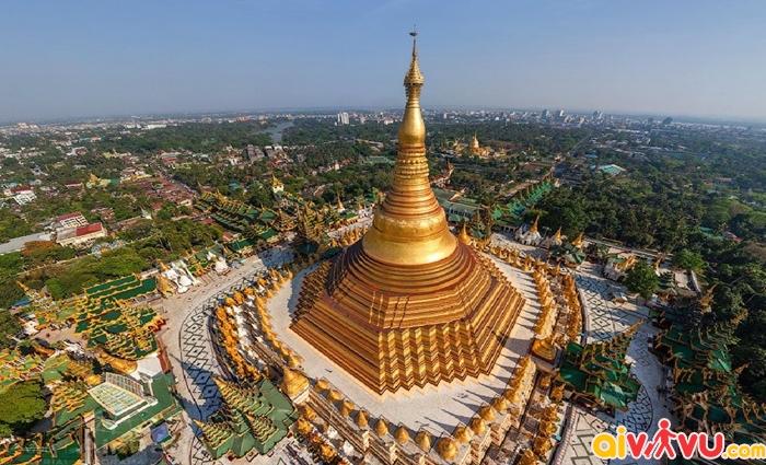 Chùa Vàng Swedagon là biểu tượng độc đáo của Myanmar