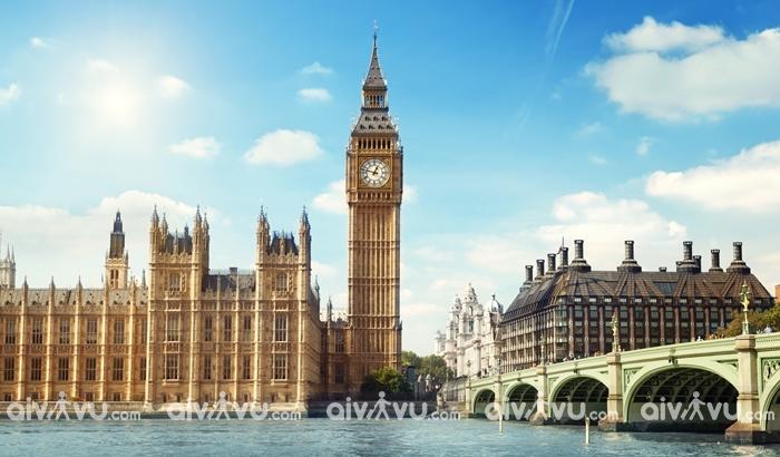Tháp đồng hồ Big Ben biểu tượng của thành phố London