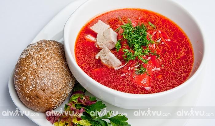 Borsch món ăn khai vị không thể thiếu của người dân nước Nga