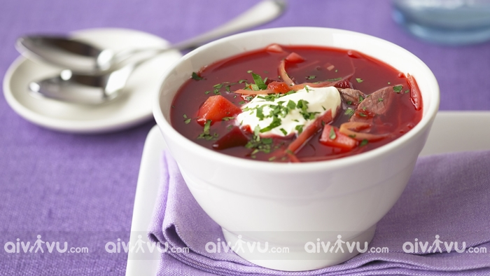 Súp củ cải đỏ Borscht Ukraine