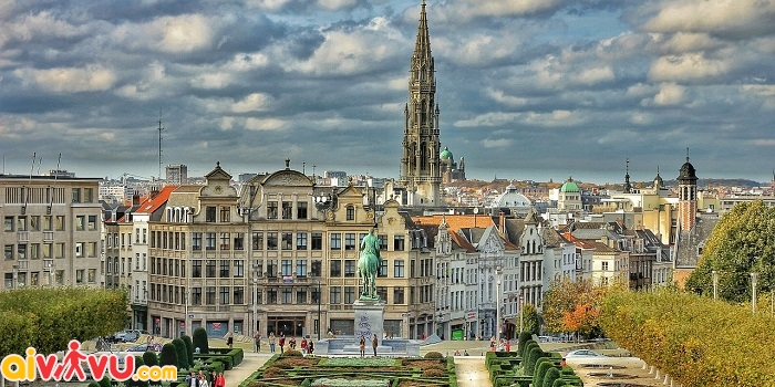 ve may bay di brussels gia re