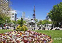 Công viên Odori địa điểm hấp dẫn tại Sapporo
