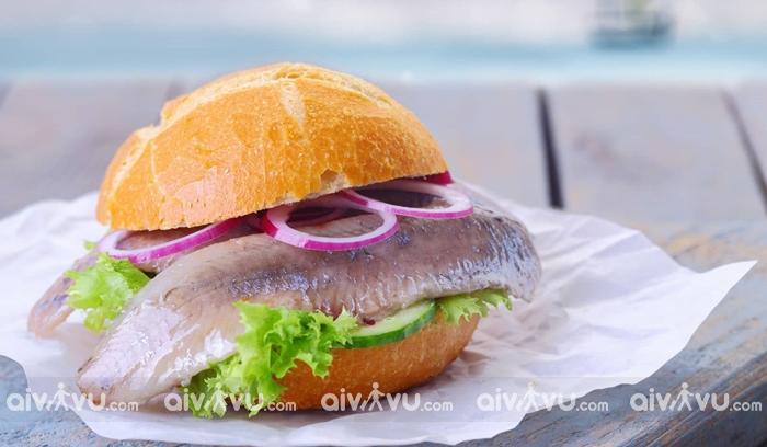 Fischbrötchen món bánh Sandwich tại Stuttgart