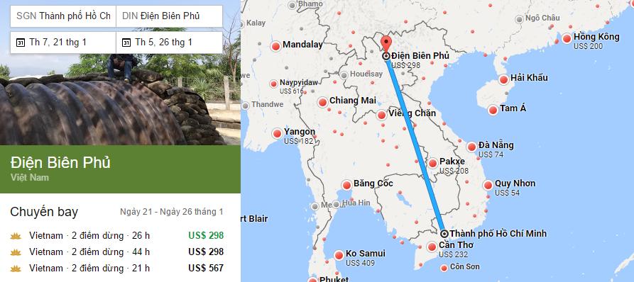 Tham khảo hành trình bay đến Điện Biên bằng vé máy bay đi Điện Biên