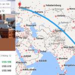 Tham khảo hành trình bay từ Việt Nam đến Moscow