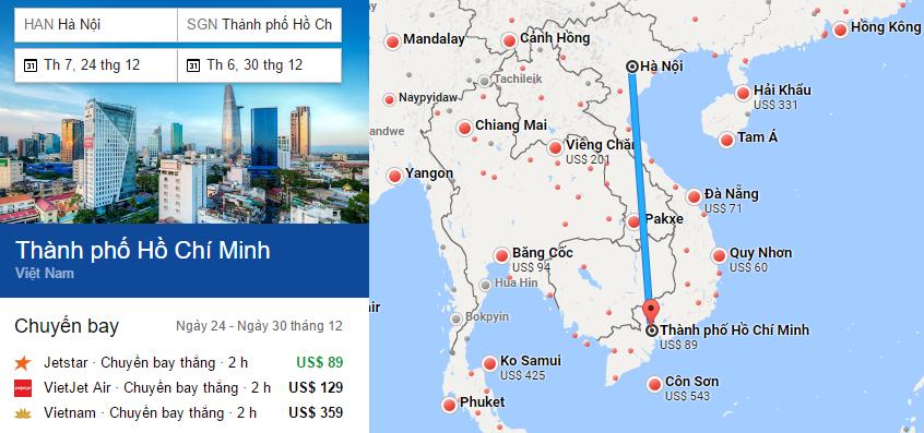 Tham khảo hành trình bay đến TP HCM bằng vé máy bay đi Sài Gòn