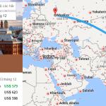 Tham khảo hành trình bay từ Việt Nam đến Nga