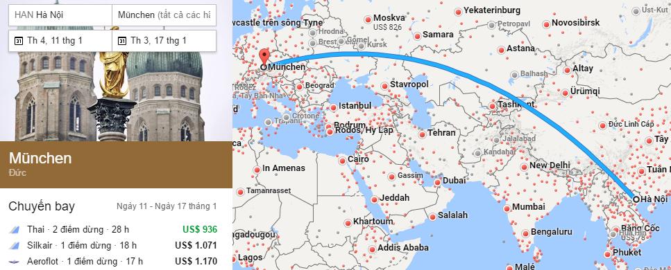 Tham khảo hành trình bay từ Việt Nam đến Munich