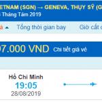 Vé máy bay đi Geneva từ Hồ Chí Minh
