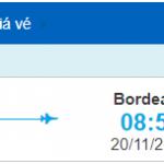 Vé máy bay đi Bordeaux từ Hồ Chí Minh