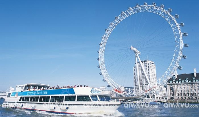 London Eye nơi có tầm nhìn ra trung tâm London đẹp nhất
