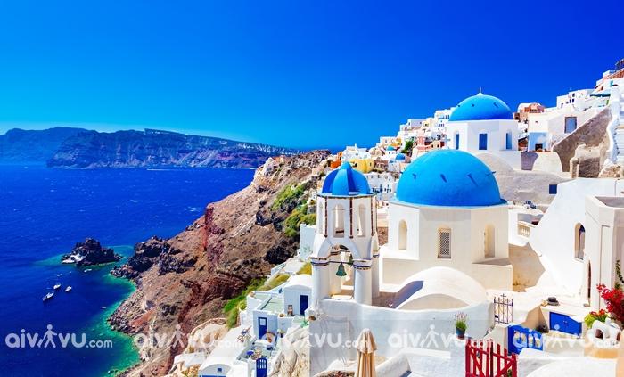 Hòn đảo Santorini xinh đẹp của Hy Lạp