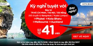 Tận hưởng kì nghỉ thú vị với vé máy bay chỉ từ 41 USD