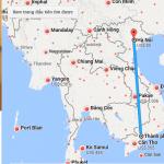 Bản đồ đường bay đi Hà Nội