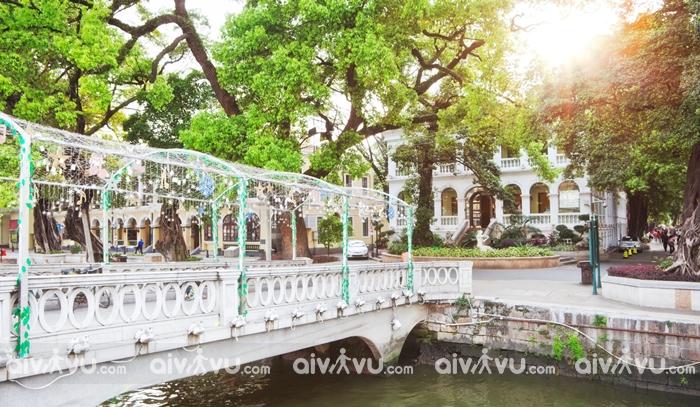 Đảo Shamian nơi lưu trữ các tòa nhà lịch sử tại Quảng Châu