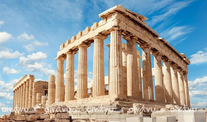 ĐềnParthenon công trình nổi tiếng thời Hy Lạp cổ đại tại Athens