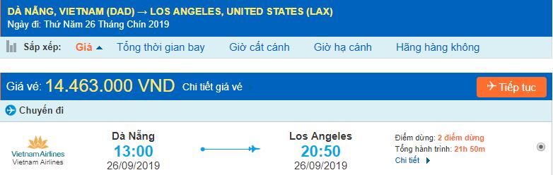 Đà Nẵng đi Los Angeles