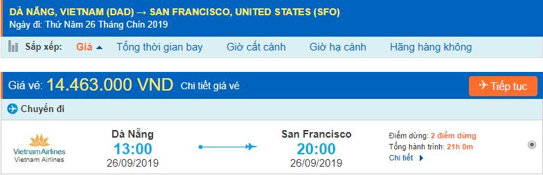 Đà Nẵng đi San Francisco