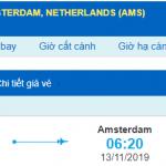 Vé máy bay đi Hà Lan từ Hồ Chí Minh