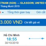 Vé máy bay đi Glasgow từ Hồ Chí Minh