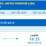 Vé máy bay đi Leeds từ Hồ Chí Minh