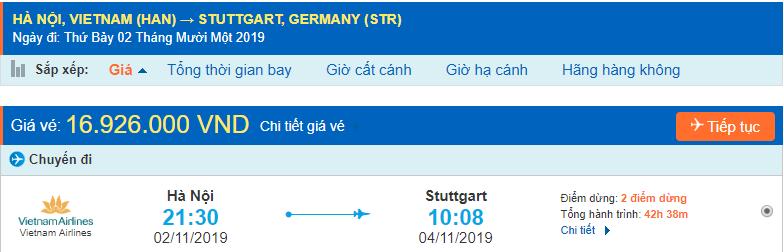 Vé máy bay đi Stuttgart từ Hà Nội
