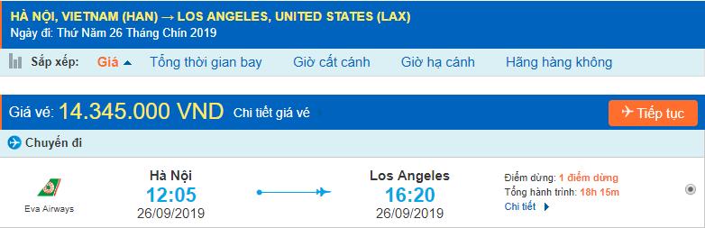 Chặng bay Hà Nội - Los Angeles