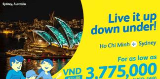 Cơ hội sở hữu vé máy bay đi Úc chỉ từ 169 USD