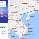 Bản đồ đường bay từ Hà Nội đi Quảng Châu