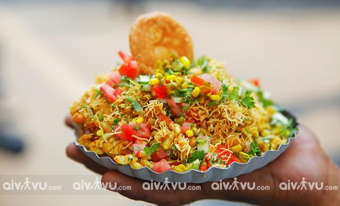 Bhelpuri món ăn nhẹ tại Mumbai
