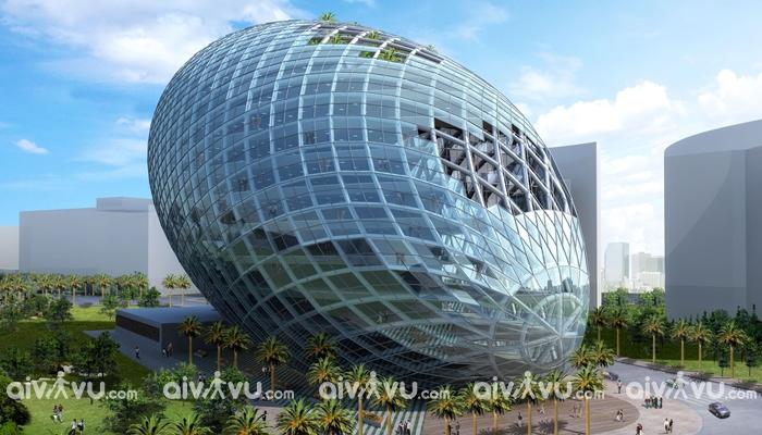 Tòa nhà hình trứng kiến trúc nổi bật nhất Mumbain