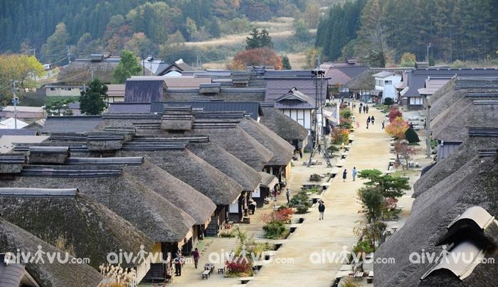 Ouchijuku điểm thu hút khách quan tại Fukushima