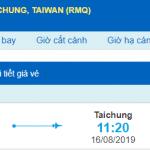 Vé máy bay đi Đài Trung từ Hồ Chí Minh