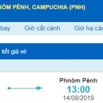 Giá vé máy bay đi Phnom Penh từ Hồ Chí Minh