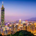 Toà nhà Taipei 101 sừng sững, lung linh trong ánh điện