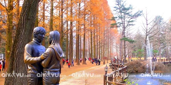 Đảo Nami khung cảnh lãng mạn tại Hàn Quốc