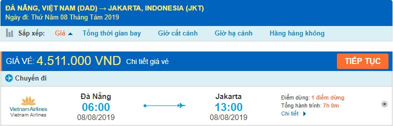 Vé máy bay đi Indonesia từ Đà Nẵng