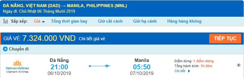 Vé máy bay Đà Nẵng đi Philippines