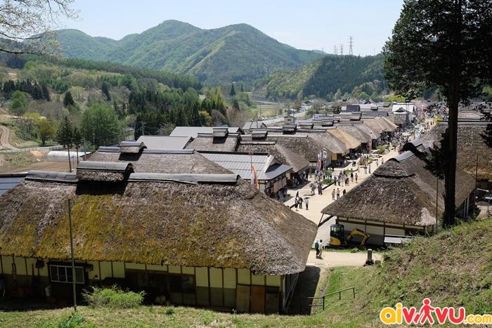 Ouchijuku nổi tiếng với lối kiến trúc nguyên bản thời kỳ Edo