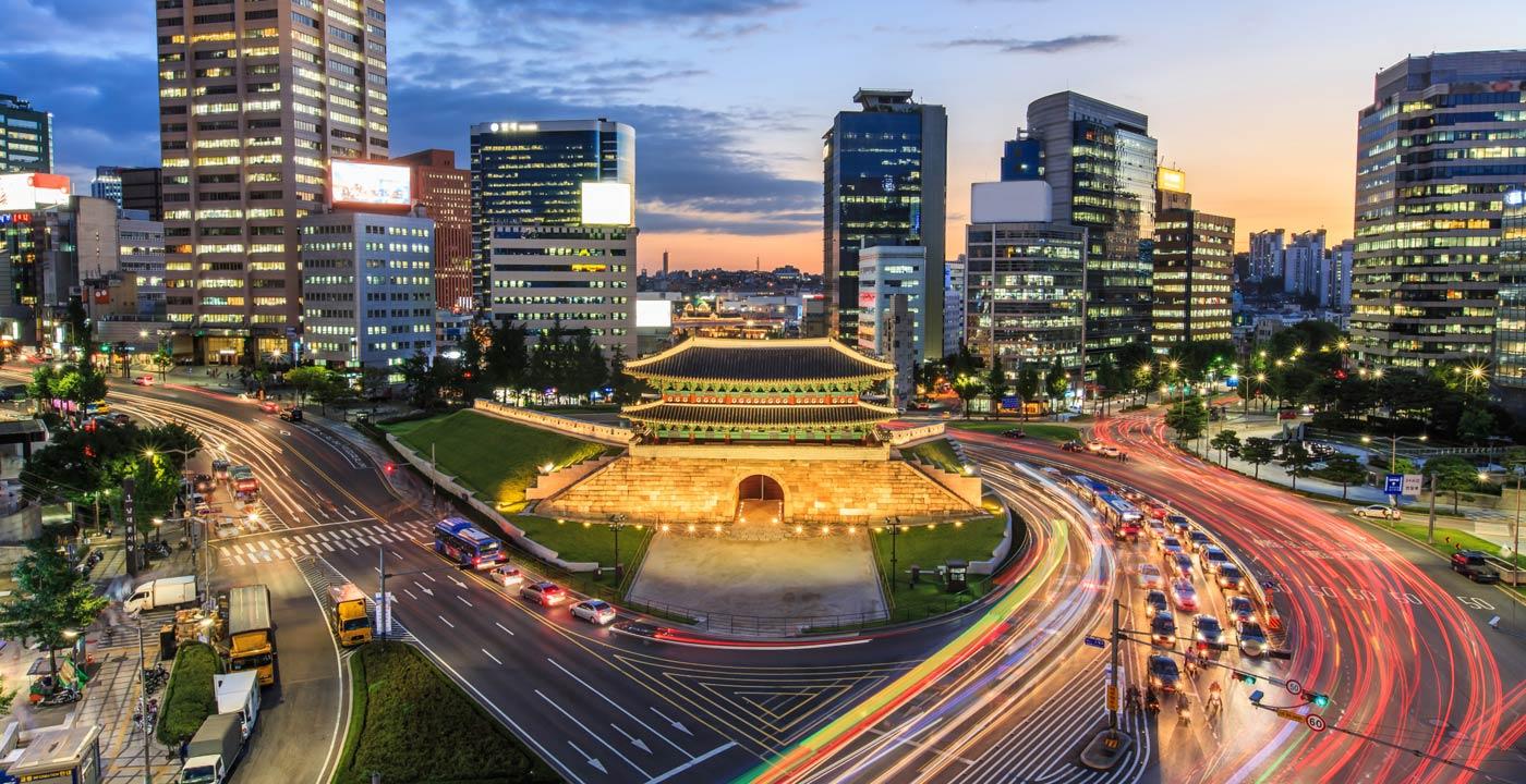 Bản đồ đường bay chặng Hồ Chí Minh - Seoul
