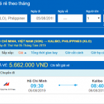 Giá vé máy bay từ Hồ Chí Minh đi Boracay