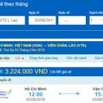 Giá vé máy bay Hồ Chí Minh đi Viêng Chăn