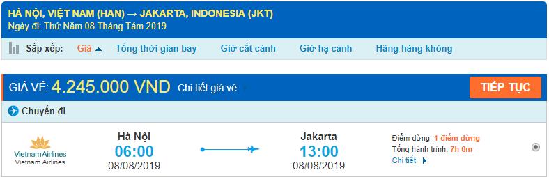 Vé máy bay đi Indonesia từ Hà Nội