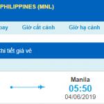 Giá vé máy bay đi Philippines từ Hà Nội