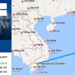 Bản đồ đường bay chặng TP HCM - Manila